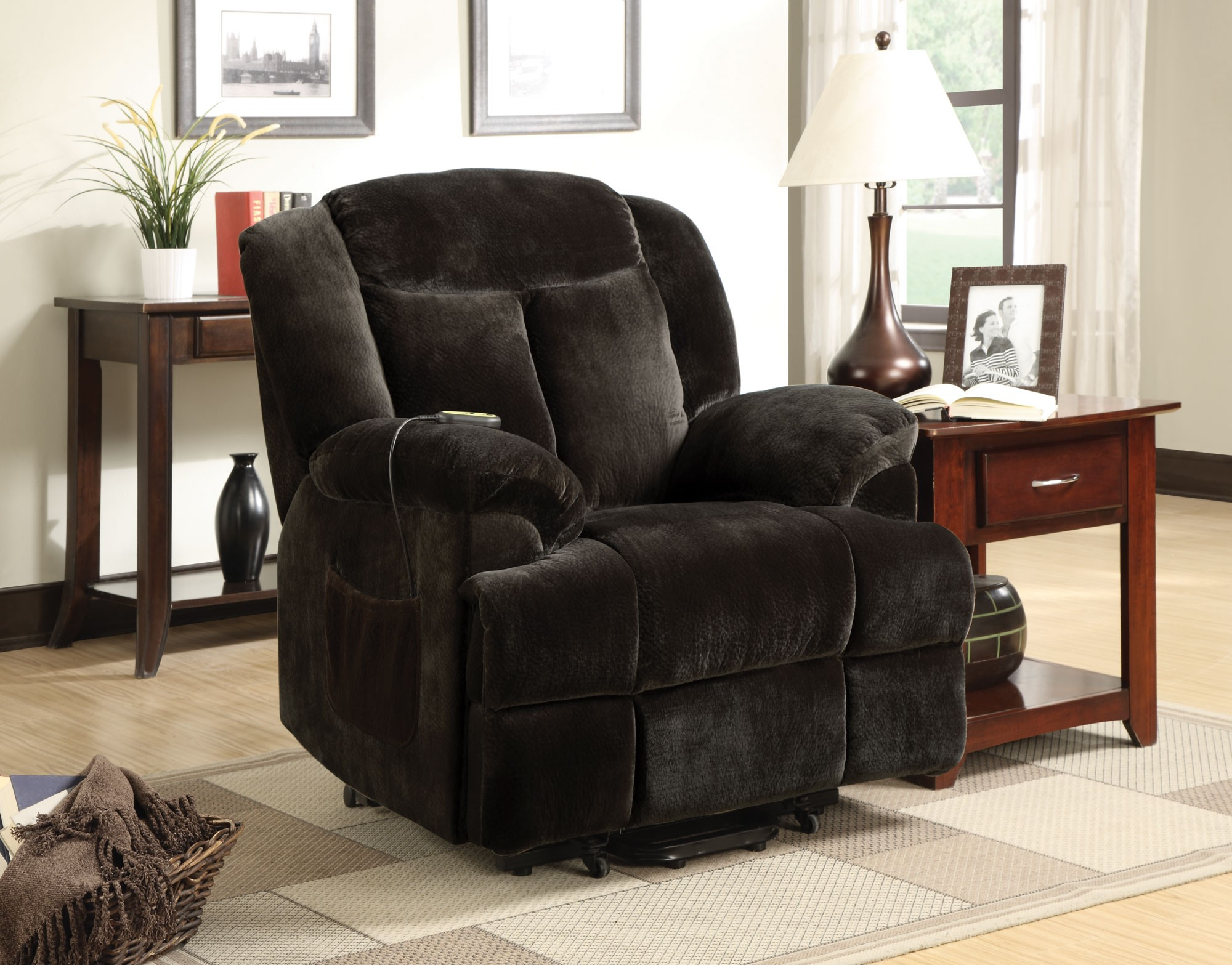 Outstanding Chocolate Power Lift Recliner Chair Onthecornerstone Fun Painted Chair Ideas Images Onthecornerstoneorg