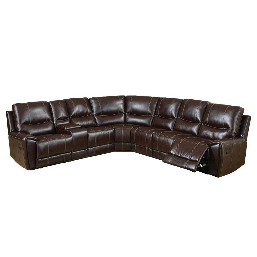 Brown Bonded Leather Match 3 Recliners