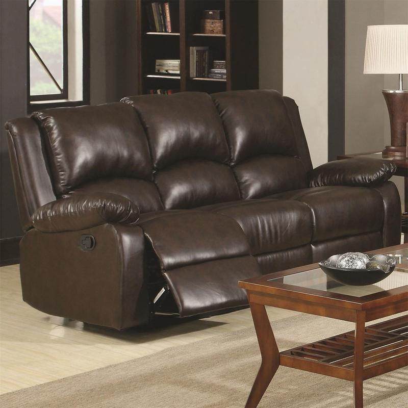 Wondrous Boston Reclining Sofa In Brown Leather Like Gmtry Best Dining Table And Chair Ideas Images Gmtryco
