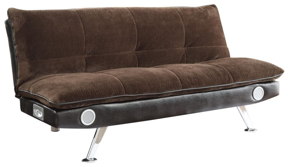 Astounding Contemporary Style Dark Brown Futon Sofa Bed Creativecarmelina Interior Chair Design Creativecarmelinacom